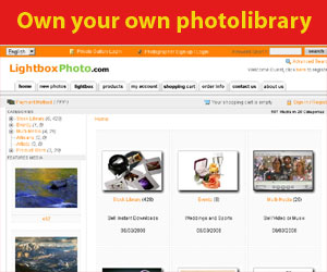 Lightbox photo library software